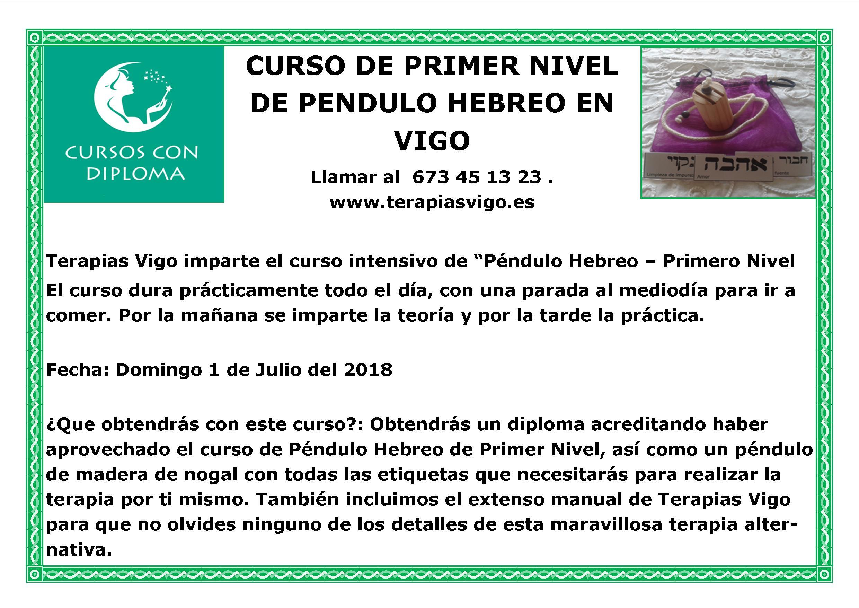 1 JULIO PRIMER NIVEL PENDULO